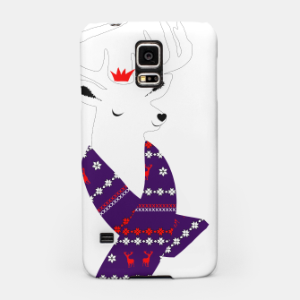 Thumbnail image of Cute Christmas Fun Stag Deer  Samsung Case, Live Heroes