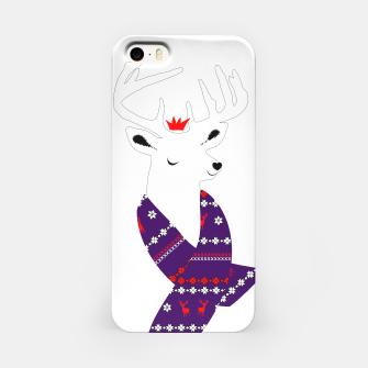 Thumbnail image of Cute Christmas Fun Stag Deer  iPhone Case, Live Heroes