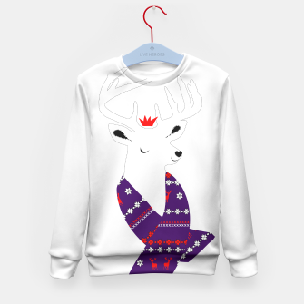 Thumbnail image of Cute Christmas Fun Stag Deer  Kid's Sweater, Live Heroes