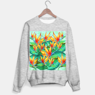 Thumbnail image of Bird of Paradise Flower Exotic Nature Sweater regular, Live Heroes