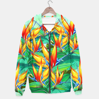 Thumbnail image of Bird of Paradise Flower Exotic Nature Hoodie, Live Heroes