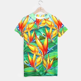 Thumbnail image of Bird of Paradise Flower Exotic Nature T-shirt, Live Heroes