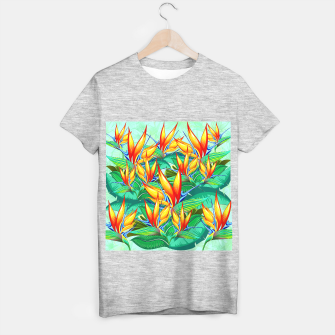 Thumbnail image of Bird of Paradise Flower Exotic Nature T-shirt regular, Live Heroes