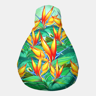 Thumbnail image of Bird of Paradise Flower Exotic Nature Pouf, Live Heroes