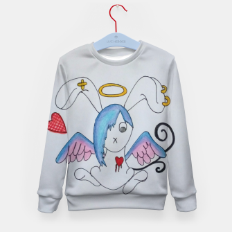 Thumbnail image of Emo Bunny Kid's Sweater, Live Heroes