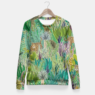 Thumbnail image of Jungle Tigers by Veronique de Jong Fitted Waist Sweater, Live Heroes