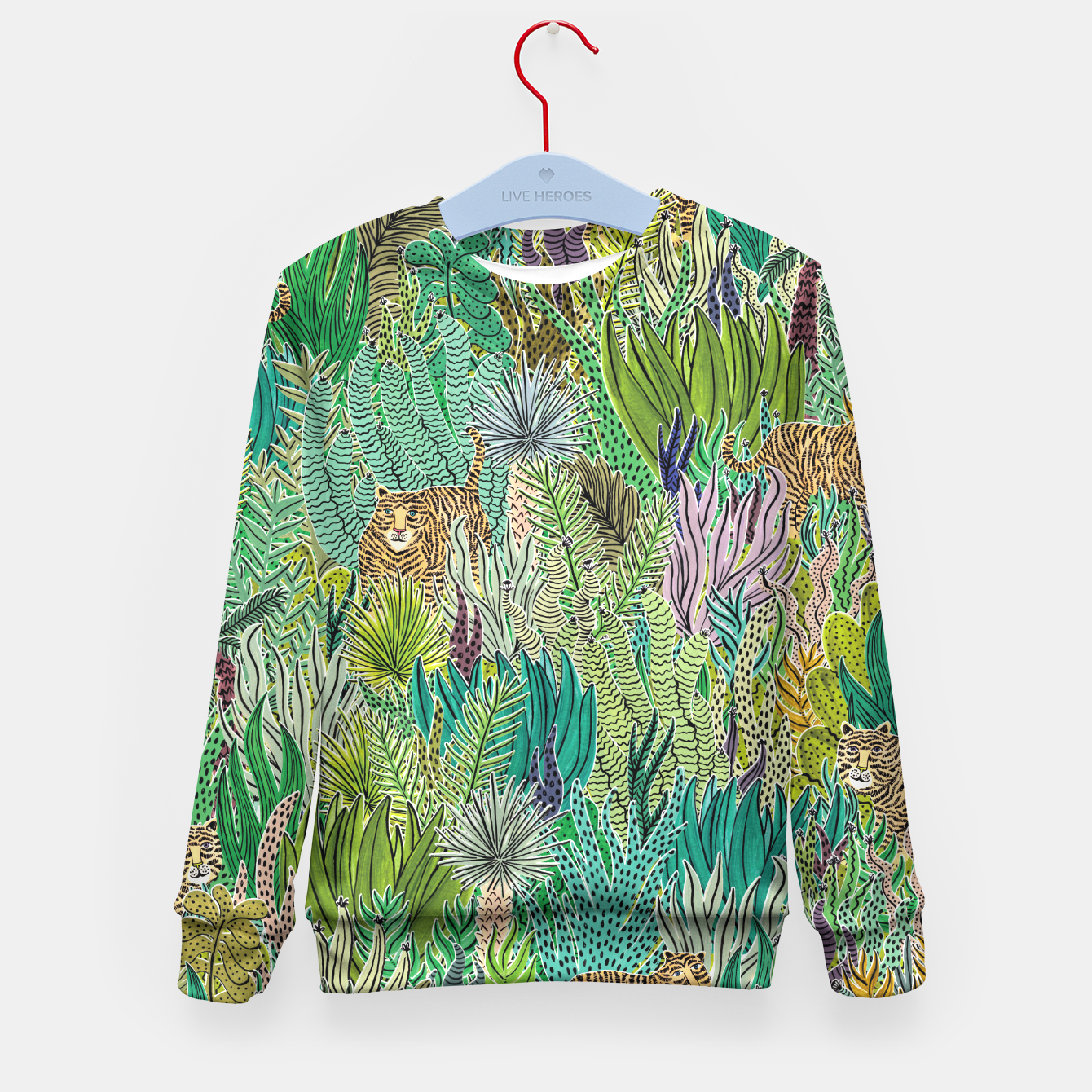 Image of Jungle Tigers by Veronique de Jong Kid's Sweater - Live Heroes