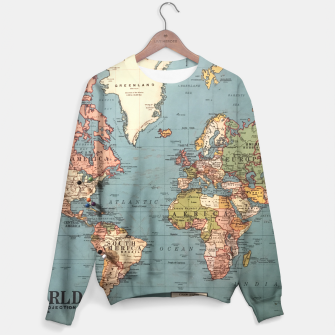 Thumbnail image of World Map Sweater, Live Heroes