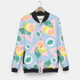Imagen en miniatura de Geometric and Apple Pattern Baseball Jacket, Live Heroes