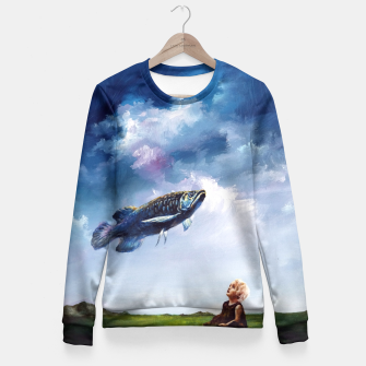 Thumbnail image of sky  Fitted Waist Sweater, Live Heroes