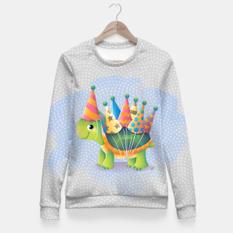 Thumbnail image of Birthday Turtle Fitted Waist Sweater, Live Heroes