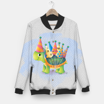 Thumbnail image of Birthday Turtle Baseball Jacket, Live Heroes