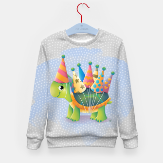 Thumbnail image of Birthday Turtle Kid's Sweater, Live Heroes