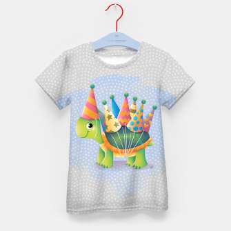 Thumbnail image of Birthday Turtle Kid's T-shirt, Live Heroes