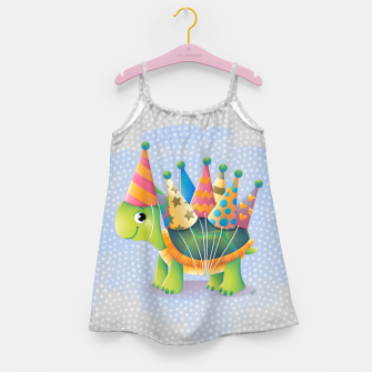 Thumbnail image of Birthday Turtle Girl's Dress, Live Heroes