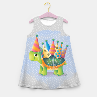 Thumbnail image of Birthday Turtle Girl's Summer Dress, Live Heroes