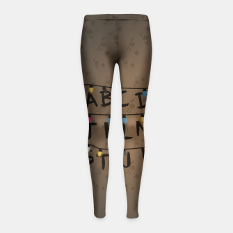 Thumbnail image of Stranger Things Girl's Leggings, Live Heroes
