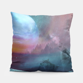 Thumbnail image of Howling at the moon Pillow, Live Heroes