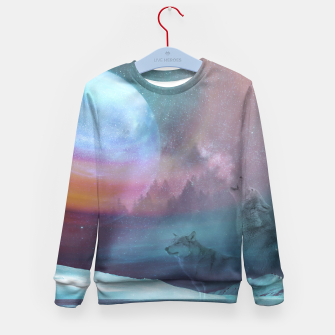 Thumbnail image of Howling at the moon Kid's Sweater, Live Heroes