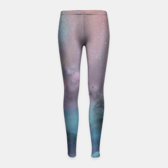 Thumbnail image of Howling at the moon Girl's Leggings, Live Heroes