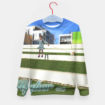 Thumbnail image of HIGHER = GRANI LIVING <3 Kid's Sweater, Live Heroes