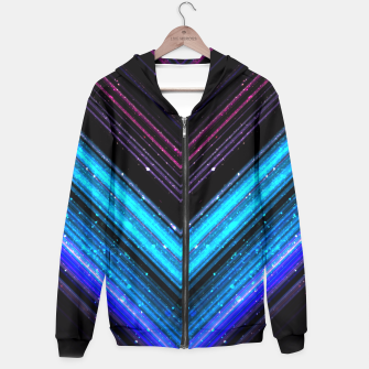 Sparkly metallic blue and purple galaxy lines Hoodie thumbnail image