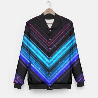 Sparkly metallic blue and purple galaxy lines Baseball Jacket thumbnail image