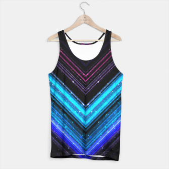 Sparkly metallic blue and purple galaxy lines Tank Top thumbnail image