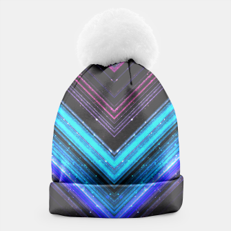 Sparkly metallic blue and purple galaxy lines Beanie thumbnail image