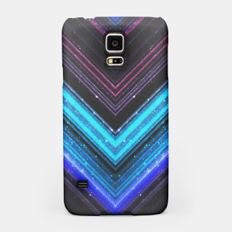 Sparkly metallic blue and purple galaxy lines Samsung Case thumbnail image