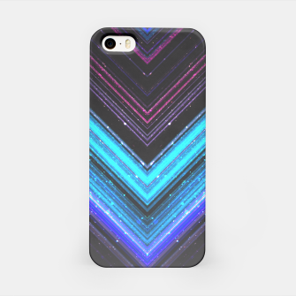 Sparkly metallic blue and purple galaxy lines iPhone Case thumbnail image