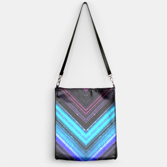 Sparkly metallic blue and purple galaxy lines Handbag thumbnail image