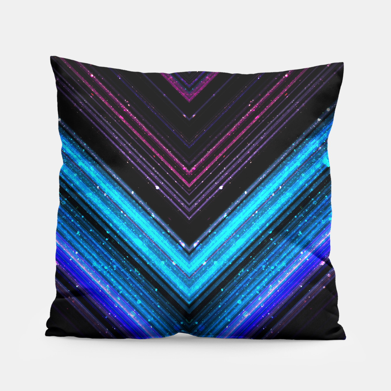 Image of Sparkly metallic blue and purple galaxy lines Pillow - Live Heroes