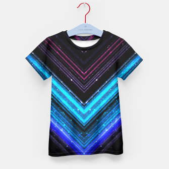 Sparkly metallic blue and purple galaxy lines Kid's T-shirt thumbnail image