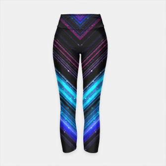 Sparkly metallic blue and purple galaxy lines Yoga Pants thumbnail image