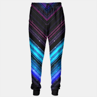 Sparkly metallic blue and purple galaxy lines Sweatpants thumbnail image