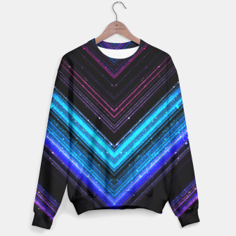 Sparkly metallic blue and purple galaxy lines Sweater thumbnail image