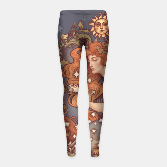Thumbnail image of COSMIC LOVER Girl's Leggings, Live Heroes