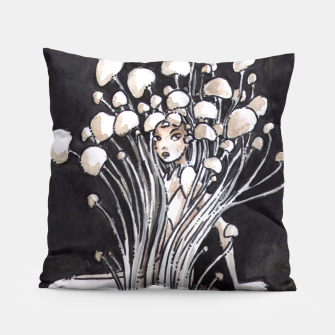 Thumbnail image of Empire of Mushrooms: Flammulina Velutipes Pillow, Live Heroes