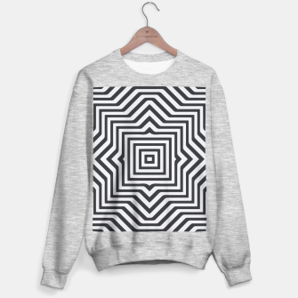 Miniaturka Minimal Geometrical Optical Illusion Style Pattern in Black & White Sweater regular, Live Heroes