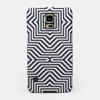 Miniature de image de Minimal Geometrical Optical Illusion Style Pattern in Black & White Samsung Case, Live Heroes