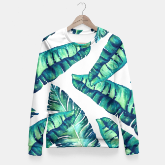 Tropical Glam Fitted Waist Sweater obraz miniatury