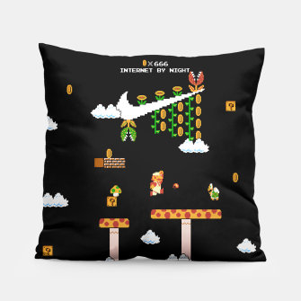 Thumbnail image of Super Mario Bros - NES Aesthetic Pillow, Live Heroes