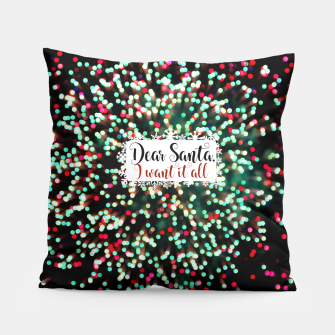 Dear Santa Pillow obraz miniatury