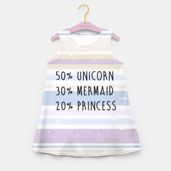 Thumbnail image of Unicorn Mermaid Princess Girl's Summer Dress, Live Heroes