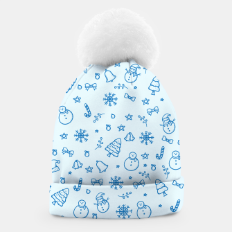Thumbnail image of Funny Blue Christmas Pattern Mütze, Live Heroes