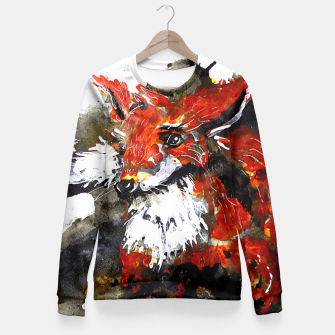 Thumbnail image of Smooth as fox Fitted Waist Sweater, Live Heroes