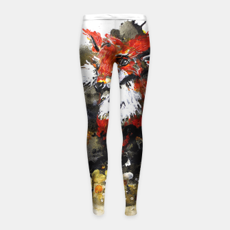 Thumbnail image of Smooth as fox Girl's Leggings, Live Heroes