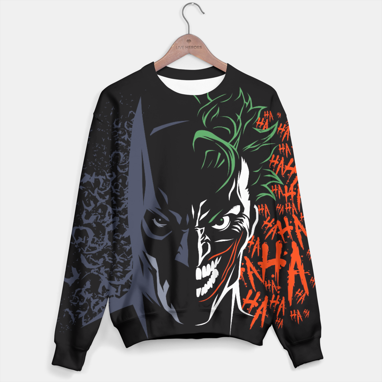 Image of Face to face Sudadera - Live Heroes