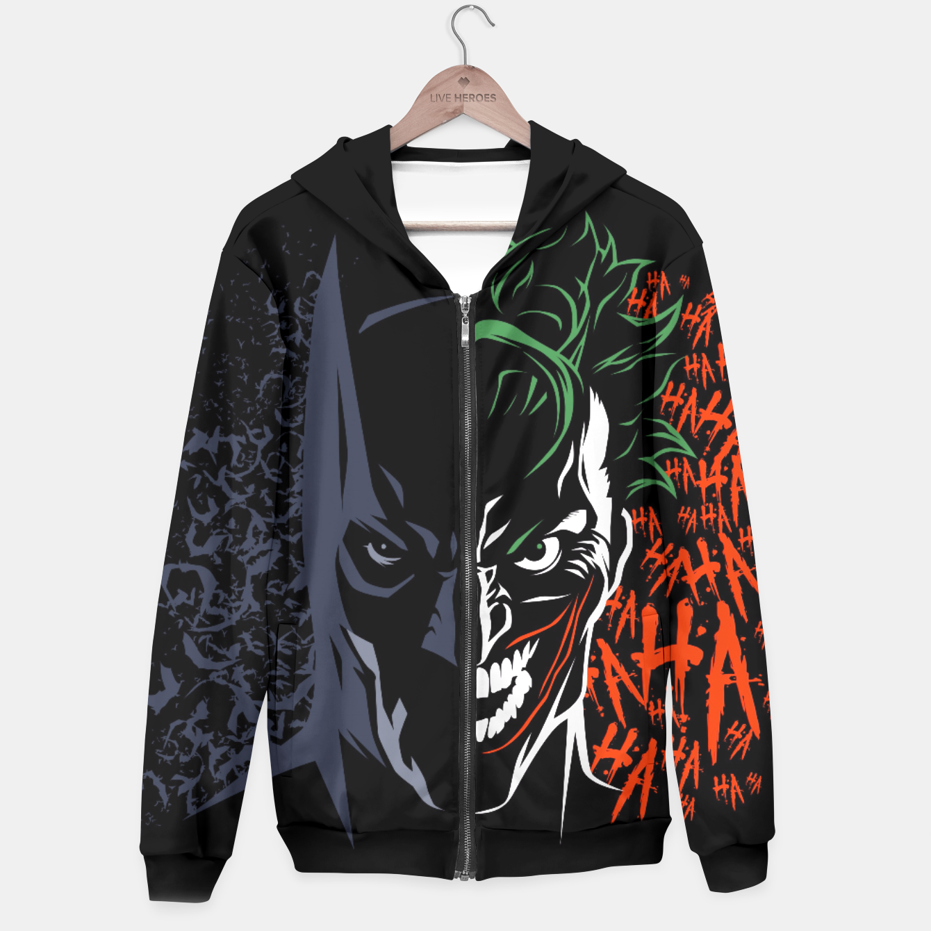 Image of Face to face Sudadera con capucha - Live Heroes